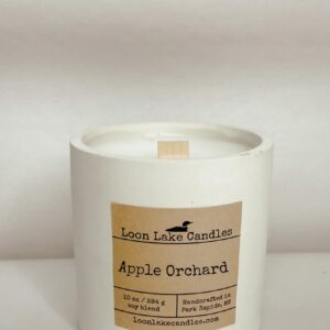 Apple Orchard Concrete Candle