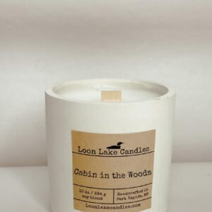 Cabin in the Woods Concrete Candle